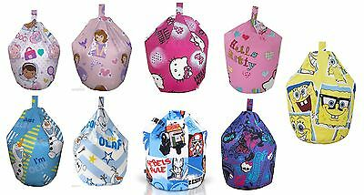 Childrens Bean Bag Kids Girls Boys Character Chair Seat Cover Only Large