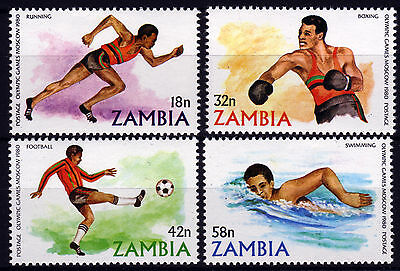 Sambia 225-28 **, Olympiade Sommer 1980
