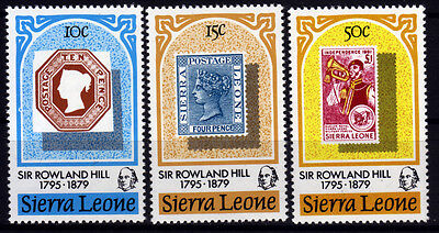 Sierra Leone 586-88 **, 100.Todestag Sir Rowland Hill-stamp on stamp