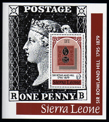 Sierra Leone Bl. 3 **, 100.Todestag Sir Rowland Hill-stamp on stamp
