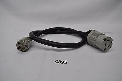 Arrow Hart 20A 125/25V twist lock plug to 15A edison plug, carol 10/3 90C cable