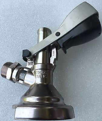 Micro Matic Zapfkopf KEG >Flach Fitting< Bier Fass