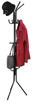 Home Basics NEW Black Free Standing Coat Hat Purse Hanging Rack - CR41166