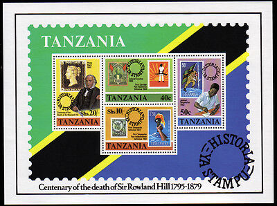 Tansania Bl. 20 **, 100.Todestag Sir Rowland Hill-stamp on stamp