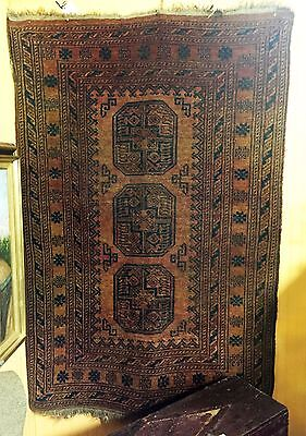 Beautiful Arts & Crafts Era Antique Handwoven Oriental / Persian Rug