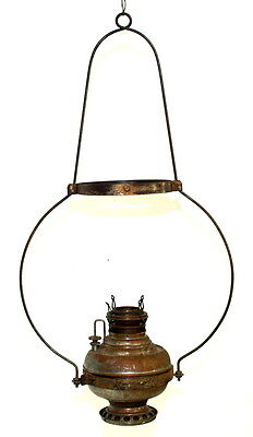 Antique Miller Old Country Store Hanging Lamp Frame And Font