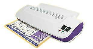 Purple Cows Hot & Cold A4 Laminator inc 100 Laminating Pouches 3016C
