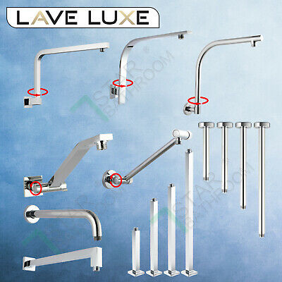 Brass Shower Arm Ceiling Wall Straight Gooseneck Dropper Head Extension Chrome