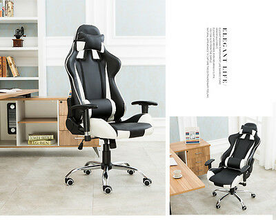 Limited Sale! Black&White Office Chairs Gaming Chair Racing Seats Computer Chair