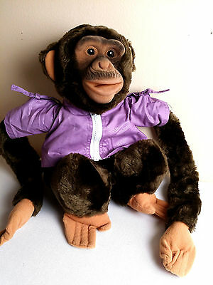 """HOSUNG CHIMP- Puppet Large Size 12"""" Squeaker in Mouth, Clothes Incl!"""