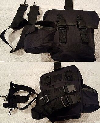 Military Issue Tactical Chemical Biological Gas Mask Carrier Case, Ammo Dump Bag