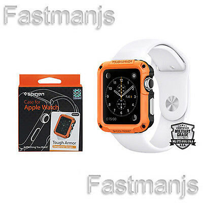 New Genuine Spigen Case for Apple Watch Tough Armor Tangerine Tango 42mm