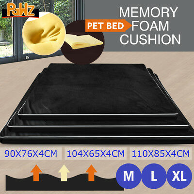 PaWz Pet Bed Deluxe Memory Foam Mattress Dog Cat Warm Pad Removable Mat Cushion