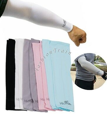 UV Sun Protection Arm Sleeves Cover Warmer Gloves Cycling Driving Outdoor Sports