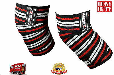 Weight Lifting Heavy Duty Knee Wraps Power Lifting Body Building Support Straps