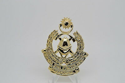 Malaysia Fire Service Hat Badge (Shell Back - Plastic) (B6)