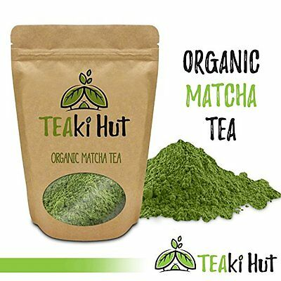 TeakI Hut Organic Matcha Green Tea Powder 100% Pure Ground Matcha Tea (4oz)