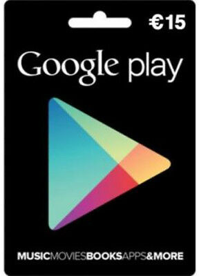 Google Play €15 Gift Card Key Android Euro Gift Certificate Karte Code
