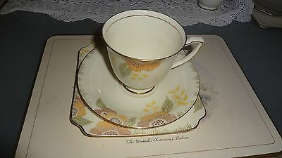 Rare Art Deco Royal Doulton Nerrisa Cup Saucer and Plate Trio