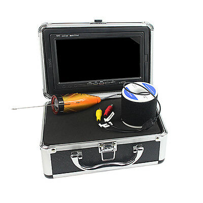 """Underwater 30M Cable Fish Finder 7"""" TFT Monitor 1000TVL IR LED Video Camera New"""