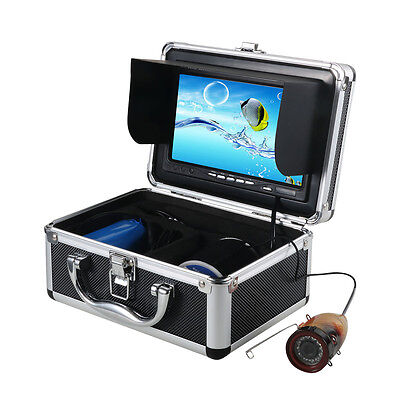 "New 30m 7""TFT LCD Monitor 1000TVL IR LED Underwater Video Camera Fish Finder Top"