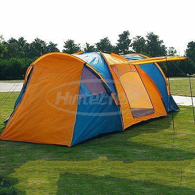 Foldable Outdoor Camping Waterproof Fold 3 Rooms Shelter Family Tent 8-9 Person