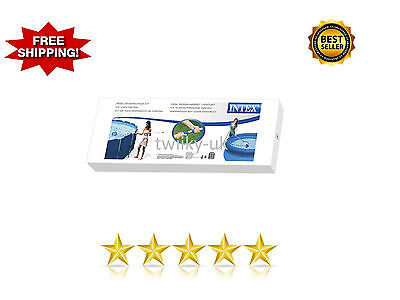 Intex Cleaning Maintenance Swimming Pool Kit with Vacuum Skimmer & Pole NEW