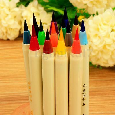 14 Color Cartoon Drawing Pen Calligraphy Art Painting Brush Felt Tip Marker Pen