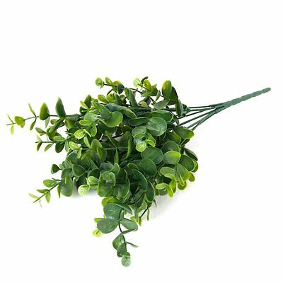 10X( Artificial Plastic Plant Gra for Home Decoration Green Large Leaves) SP