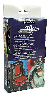 Pebeo Fantasy Moon Discovery Set 12 x 20ml - Multi-Surface Special Effect Paint