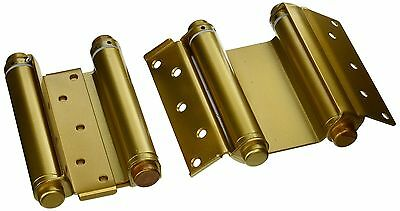 """Ultra Hardware 6"""" Heavy Duty Brass Double Action Spring Hinges for Door"""