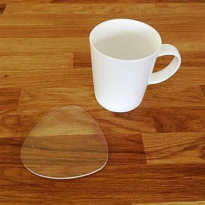 Clear Pebble Shaped Coaster Set
