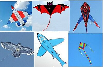 kite childrens single line kites,large design multi choice outdoor activity uk