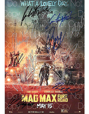 Mad Max Fury Road signed Tom Hardy x11 8X10 photo picture poster autograph RP 2