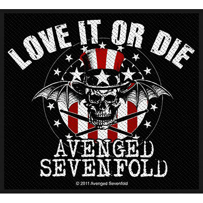 Avenged Sevenfold Men's Love It Or Die Woven Patch Black