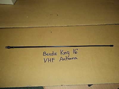 "New LAA0813 BK Radio 148-174 MHz 16"" VHF Whip Antenna BENDIX LONG Whip OEM"