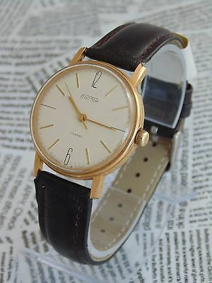 RARE VOSTOK VINTAGE MENS MECHANICAL  watch Made in USSR  GOLD PLATED