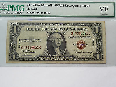 coinhunters - 1935-A - Hawaii $1 Silver Certificate - PMG VF