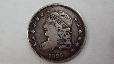 Coinhunters- 1835 Capped Bust Half Dime - Small Date, Small 5 cents, VF+,Details