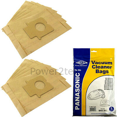 5 To fit Panasonic C2E Vacuum Cleaner Paper Bag Pack