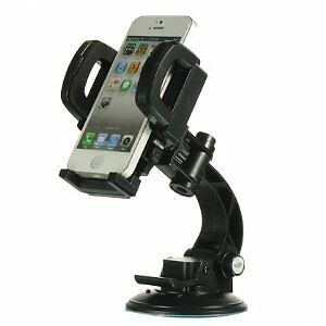 Heavy-duty Universal Car Mount with Suction Cup - Black