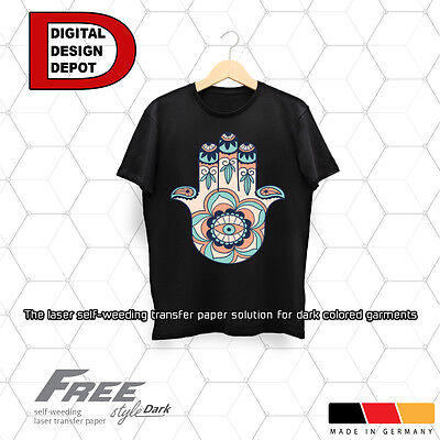 Free Style Laser Self-Weeding Trim Free Heat Transfer Paper for Dark :)