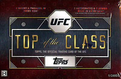 2016 Topps UFC Top of the Class SEALED HOBBY BOX (3 Hits per box on avg)
