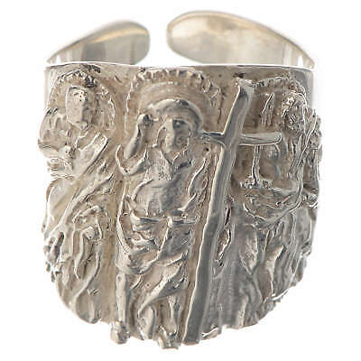 Bishop ring silver 925 Jesus