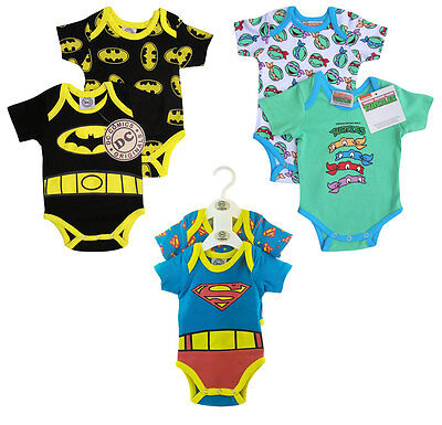 Baby Boy Newborn Superhero Batman Superman Romper Costume Bodysuit Xmas Gift
