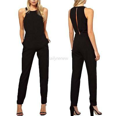 Women Ladies Clubwear Playsuit Bodycon Party Jumpsuit Romper Long Pants Trousers