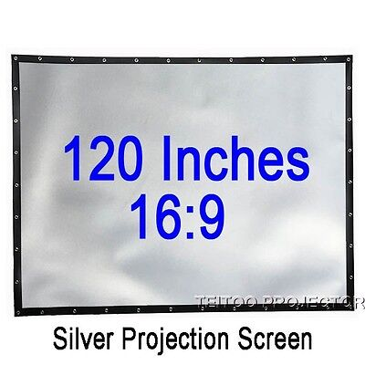 120 Inch 16:9 Home Cinema Profile High Quality Grey Silver 3D Projector Screen
