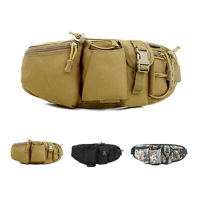 Mens Waist Fanny Bag Belt Tactical Military Army Travel Hiking Water Bottle Pack