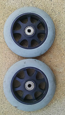 """Jazzy Pride Power  Wheelchair Caster 6"""" Inch Front Anti Tipper  Tracer"""