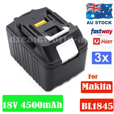 3x Power Battery For Makita BL1830 BL1845 LXT Lithium Ion Cordless Heavy Duty